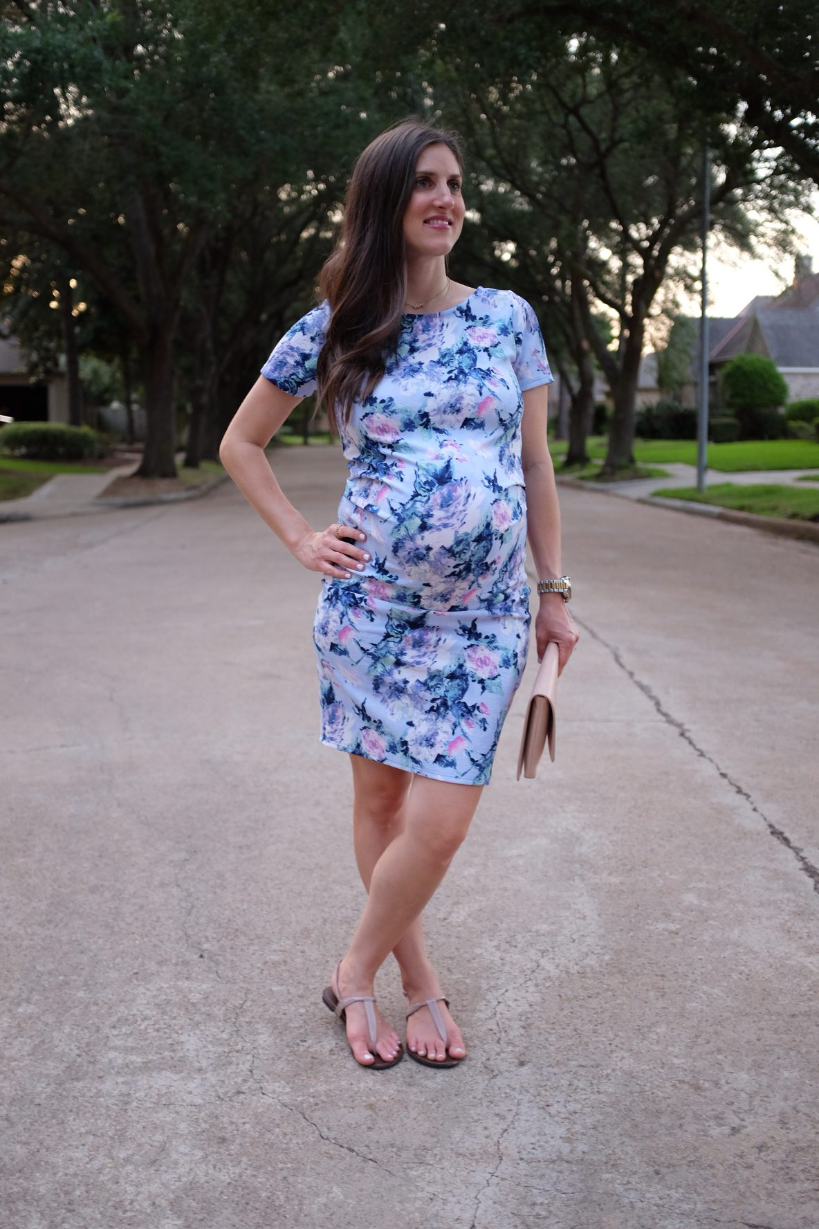pinkblush-maternity-clothes-floral-printed-dress-homegrown houston-4