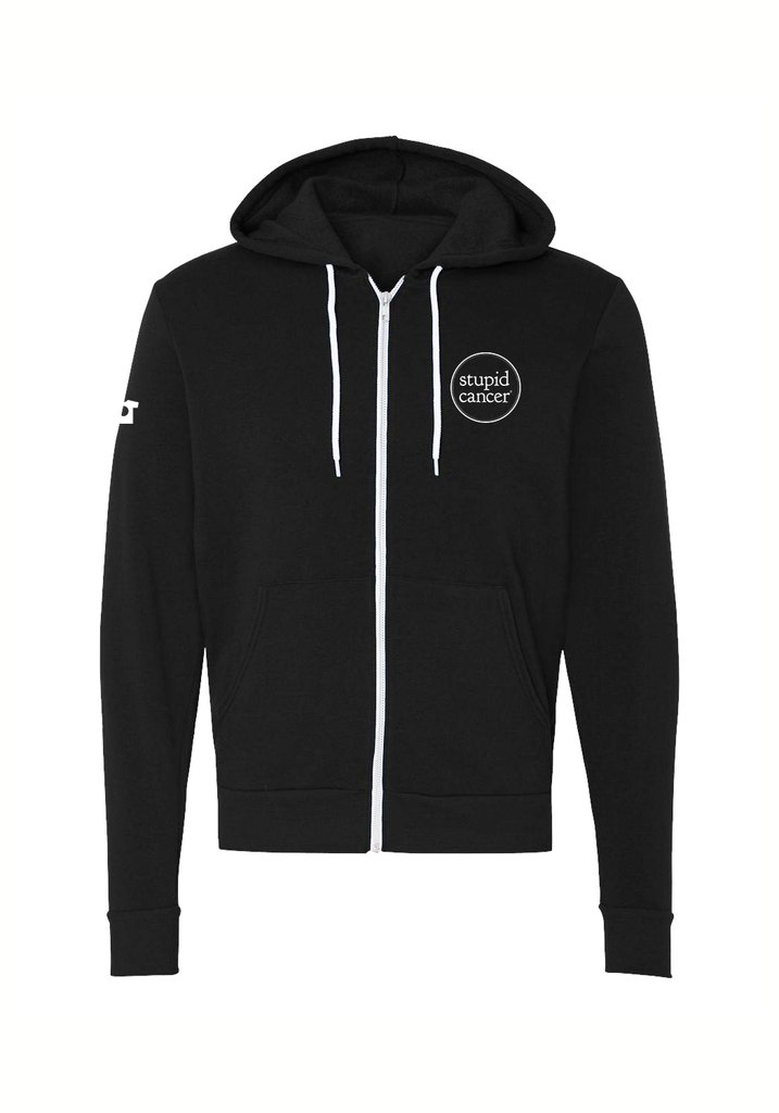 stupid-cancer-zipup-hoodie-holiday-gift-guide-cancer-warrior-edition-what-to-give-someone-with-cancer-sabrina-skiles