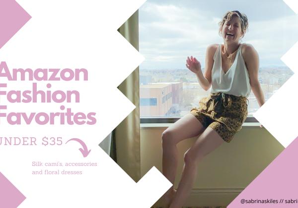 Amazon Fashion Favorites under $35 sabrina skiles blog header